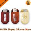 Movimentação de madeira da memória Flash do USB do presente relativo à promoção