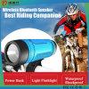 Fahrradtaschenlampe mit Energienbank und bluetooth Lautsprecher