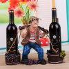 De Houder van de Wijn van het Rek van de Wijn van het Decor van het Huis van het Beeldje van het Standbeeld van de hars
