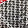 服のための黒い格子パターンレースファブリック