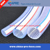 Boyau de tissu-renforcé tresse en plastique claire/transparente de PVC