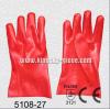 Красная перчатка промышленной работы PVC с сертификатом Ce (5108-27)