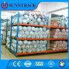 Cremalheira personalizada solução do armazenamento do metal do armazenamento do rolo da tela para a indústria têxtil