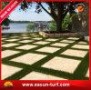 Estera sintetizada de la hierba del césped falso para el paisaje
