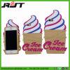 Cubierta del teléfono del silicón de la dimensión de una variable del helado para el iPhone 6s