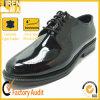 本革の黒の通気性のオフィスの靴