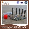 Moinho de extremidade contínuo Tialn do carboneto que reveste 4 flautas HRC45-50