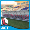 Banco de esportes móveis com cadeira macia dobrável para jogador de futebol, treinadores e árbitro