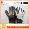 Guanto registrabile del lavoro della manopola del rivestimento interno del nitrile di nylon bianco del nero (DKL560)