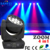 19*12W Beam Zoom DEL Moving Head Wash pour Stage