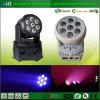 Luz principal móvil de la colada de la fábrica 7PCS*10W LED de Guangzhou mini