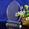 Récompense en verre de trophée en verre clair de jade