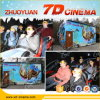 Mini parco di divertimenti Ride 7D Cinema Game Motion Simulator