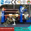 Máquina de dobra hidráulica da placa de quatro rolos do CNC da série de Mclw12scx, máquina de rolamento da placa