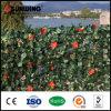 Nova Decoração Decoração Verde Arbustos Artificial Folha Parede com Flores