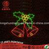 LED-Weihnachtsfeiertags-Partei-im Freien wasserdichte Licht-2D hängendes Bell-Motiv-Licht