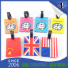 昇進のためのゴム製ロゴの卸し売りPVC荷物の札