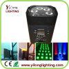 Luz do diodo emissor de luz de Oprated da bateria da decoração 6PCS Rgabw do estágio do banquete de casamento
