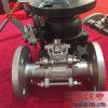 3PCS de Kogelklep van de flens Pn16 Met Direct het Opzetten ISO5211 Stootkussen