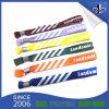 Wristbands tejidos poliester de encargo de la tela del deporte con mirada plástica
