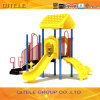 Цветастые гальванизированные игрушки спортивной площадки детей столба напольные с скольжением