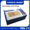 precio plástico de la máquina de grabado del laser de madera del sello de goma 40W de 200X300m m