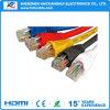 Ethernet-Netzwerk kabelt ringsum CAT6 flaches UTP RJ45 Kabel