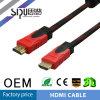 Câble de la peinture HDMI d'or de la qualité 24k 1.4V 19p de Sipu