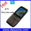 Téléphone portable de bande de quadruple de carte d'E71 TV trois SIM