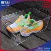 Cadre de chaussure acrylique clair fabriqué à la main de Trasparent avec le couvercle
