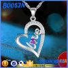 Collana del pendente del cuore di amore incisa argento