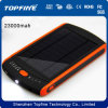 Солнечное электропитание заряжателя 23000mAh универсальноое-применим для iPod, черни, компьтер-книжки, MP3, MP4