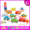 New Imitate DIY Wooden String Car Toy para crianças, Hot Selling Cute Design Wooden Pull String Car Toy W11e048
