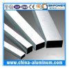 Tube en aluminium carré anodisé argenté/pipe en aluminium, tube creux en aluminium d'OEM/ODM