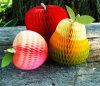 Más decoración del panal del papel de tejido del diseño de la fruta