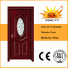 寝室(SC-W062)のための贅沢なGlass Insert Solid Wood Door