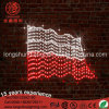 Lumières de blanc de jour national de DEL Pologne et de Pôle de réverbère de motif de drapeau rouge