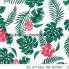 As folhas & as flores imprimiram a tela 20% da tela 80%Nylon Elastane para o Swimwear