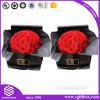 Papel lustroso Handmade luxuoso que empacota a caixa quadrada da flor