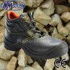 Chaussures de sûreté moyennes de travail de coupe de cuir standard de vache à Sb de Nmsafety
