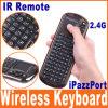 Ipazzport 배우기를 가진 소형 무선 키보드 &Mouse 터치패드 IR 리모트 (KP-810-18R)를
