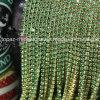 ハンドメイドの装飾の金の爪のガラスラインストーンのコップの鎖(TCS3mmペリドット)
