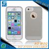 Cristal plástico traseiro duro - caixa desobstruída do telefone para o iPhone 5