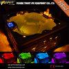 BALNEARIO y Jacuzzi al aire libre ligeros multicolores (Thetis) de 4 personas LED