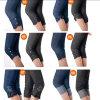 Кальсоны колготков повелительницы Девушки Режимн Гетры Jeggings женщин джинсыов джинсовой ткани лета тощие (SKPT-18)