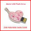 Unidad flash USB del corazón de la joyería cristalina del collar de disco USB