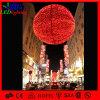 Im Freienweihnachtsdekoration-sehr große hängende rote Kugel-Leuchte