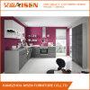 優雅な灰色の木製のベニヤの食器棚