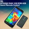Reconhecimento da impressão digital do núcleo do quadrilátero da galáxia S5/telefone esperto Android de controle remoto da função Mtk6582 (S5)