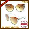 Солнечные очки рамок верхнего типа повелительниц способа F6879 широкие